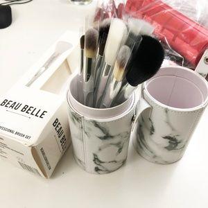 Beau Belle Brushes Marble Makeup Brush Set